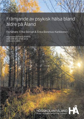 Pärm till Främjande av psykisk hälsa bland äldre på Åland av Erika Boman och Erika Borenius-Kankkonen